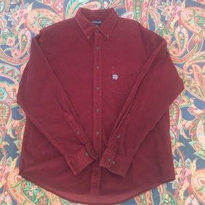 NWT Lands' End men's Button Down shirt size large.